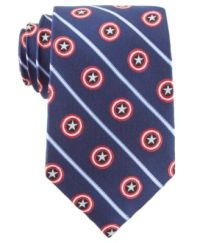 Marvel Tie, Captain America Shield Stripe - Ties & Pocket ...