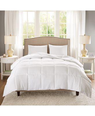 copper infused microfiber white twin twin xl down alternative comforter