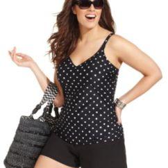 Macy's Kitchen Appliances Sale Green Island Christina Plus Size Swimsuit, Polka-dot Romper One-piece ...