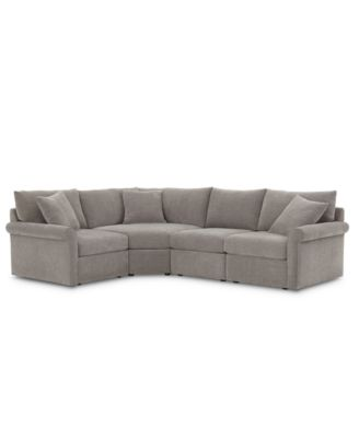 wedport 4 pc fabric l shape sectional sofa with wedge corner piece created for macy s