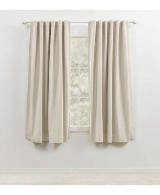 sallie blackout back tab rod pocket curtain panel 54 x 63