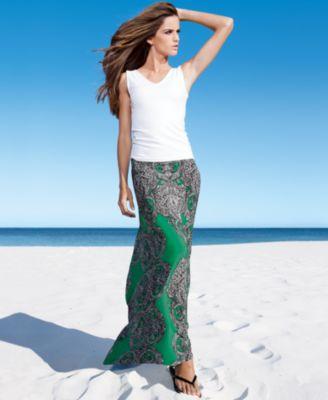 INC International Concepts Skirt, Paisley-Print Maxi