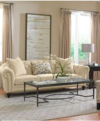 Charlene Fabric Sofa Living Room Furniture Sets & Pieces ...