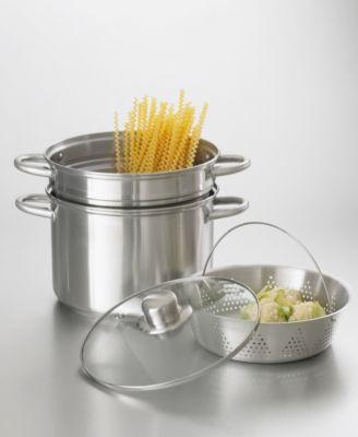 Fagor Commercial Stainless Steel 4-Piece Multi Steamer/Cooker Set, 8 Qt.