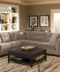 Elliot Fabric Sectional Living Room Furniture Collection ...
