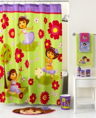 Jay Franco Bath Accessories Dora Picnic Shower Curtain Bathroom