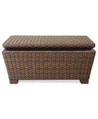 Peconic Wicker Outdoor Storage Coffee Table