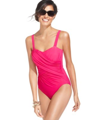 Miraclesuit Swimsuit, Romance Draped Crisscross One-Piece
