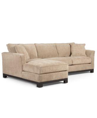 kenton fabric sofa parchment cushions for sofas sale 2-piece chaise sectional apartment ...
