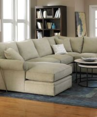 Doss Sofa Doss Fabric Microfiber Sectional Sofa 2 Piece ...