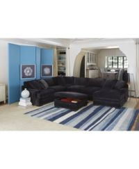 Teddy Fabric Sectional Living Room Furniture Collection ...