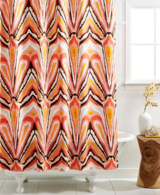 CLOSEOUT! Trina Turk Bath Ikat Shower Curtain Shower Curtains
