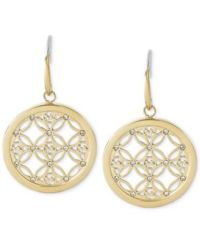 Michael Kors Small Monogram Circle Drop Earrings
