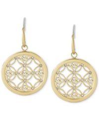 Michael Kors Small Monogram Circle Drop Earrings