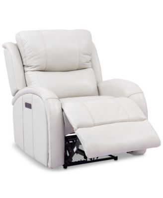 leiston leather dual power recliner with usb power outlet