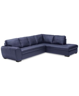 2 pc leather sectional sofa
