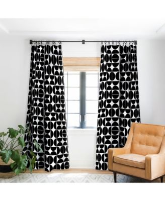 art studio mid century modern curtain
