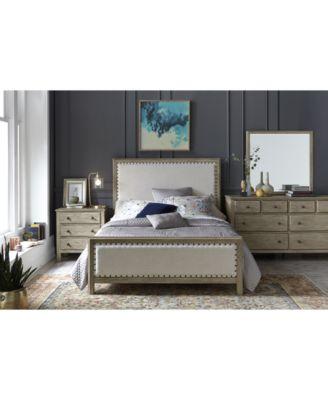 parker upholstered bedroom furniture 3 pc set queen bed dresser nightstand created for macy s