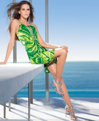 INC International Concepts Dress, Halter Printed Keyhole