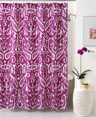 Trina Turk Bath Ikat Shower Curtain  Shower Curtains  Accessories  Bed  Bath  Macys