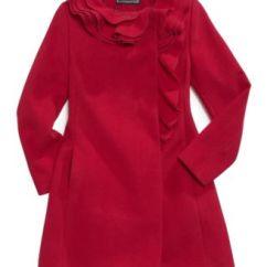 Calphalon Kitchen Essentials Antique Blue Cabinets S. Rothschild Kids Coat, Girls Ruffle Coat - Macy's