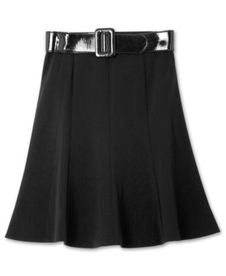 BCX Kids Skirt, Girls Belted Swing Skirt
