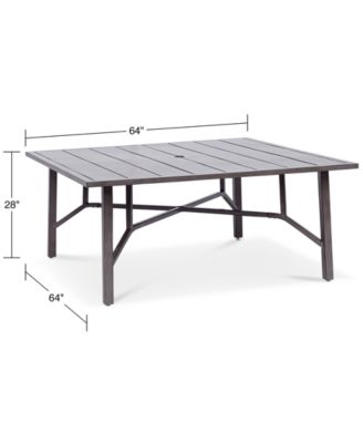 wayland aluminum 64 square outdoor dining table created for macy s