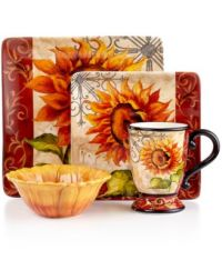 Certified International Dinnerware, Tuscan Sunflower ...