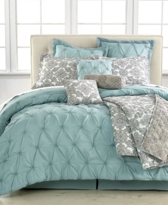Blue 10 piece comforter sets bed in a bag bed amp bath macy s