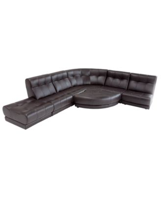 how to re plump leather sofa cushions kessler 4 piece outdoor wicker sectional set in dark brown luke & vincenzo modular at macys ...