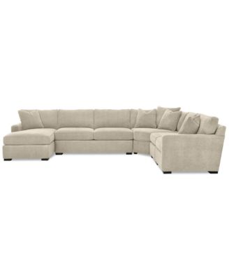 furniture radley 5 piece fabric chaise sectional sofa created for macy s reviews furniture macy s