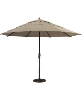 sunbrella patio umbrella outdoor black 11 auto tilt