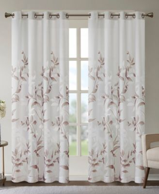 cecily floral print 50 x 84 curtain panel