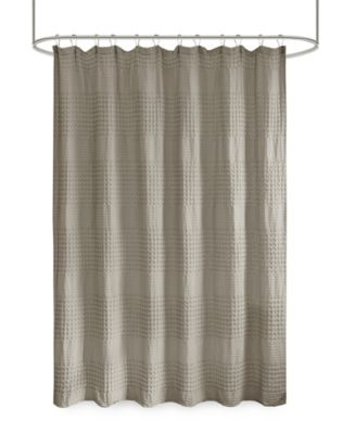 arlo super waffle textured solid shower curtain 72 x 72