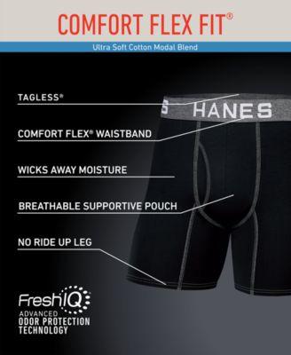 Hanes Mens Underwear Size Chart : hanes, underwear, chart, Hanes, Men's, 4-Pk., Platinum, Comfort, Fit®, Long-Line, Boxer, Briefs, Reviews, Underwear, Socks, Macy's