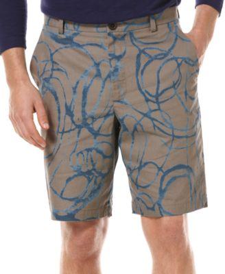 Perry Ellis Shorts, Swirly Pattern Shorts