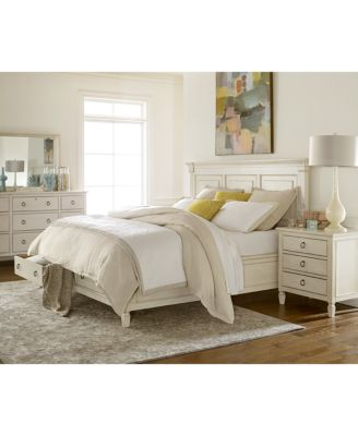 sag harbor white bedroom furniture collection 3 piece set king storage platform bed dresser nightstand