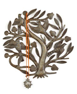 Heart of Haiti Jewelry Hanger, Birds in a Breadfruit Tree