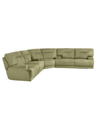 justin ii fabric reclining sectional sofa deep seated corner uk ricardo 3 piece power recliner wedge and loveseat 146w x 123d 38h furniture