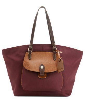 Dooney amp bourke nylon pocket shopper handbags amp accessories macy s