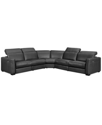 martino leather chaise sectional sofa 2 piece apartment and sleeper comfortable nicolo 5 reclining power recliner chairs armless chair