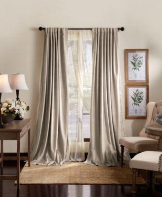 martha stewart lucca velvet 50 x 84 blackout curtain set