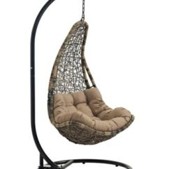 Swing Chair With Stand Outdoor Mega Motion Lift Chairs Modway Abate Patio White Furniture