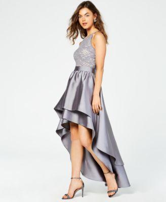 Main image also emerald sundae juniors  lace top asymmetrical skirt gown created rh macys