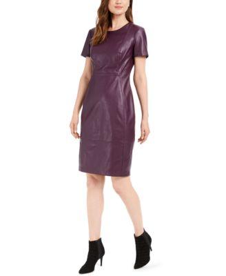 faux leather dresses shop