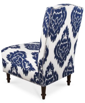 blue pattern accent chair eames skyline barstow diamonds fabric quick ship created for macy s
