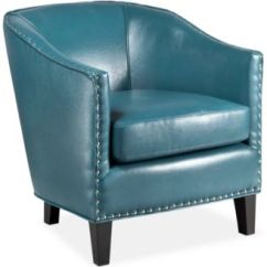 Leather Accent Chairs High For Girls Carriage Co Lawson Faux Chair Quick Ship