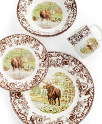 Moose Dinnerware Set : moose, dinnerware, Moose, Dinnerware