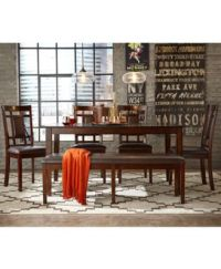 CLOSEOUT! Delran 6-Piece Dining Room Furniture Set ...