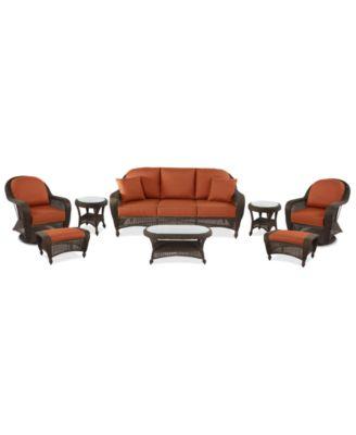 swivel chair sofa set emco navy furniture monterey outdoor wicker 8 pc seating 1 2 main image